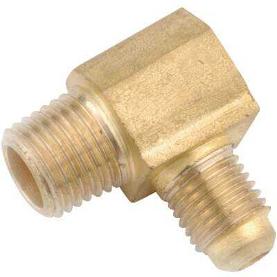 Anderson Metals 5/8 In. x 1/2 In. Male 90 Deg. Flare Brass Elbow (1/4 Bend)