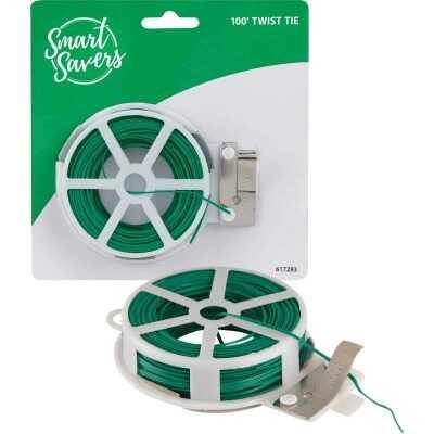 Smart Savers 100 Ft. Green Rubber Twist Tie