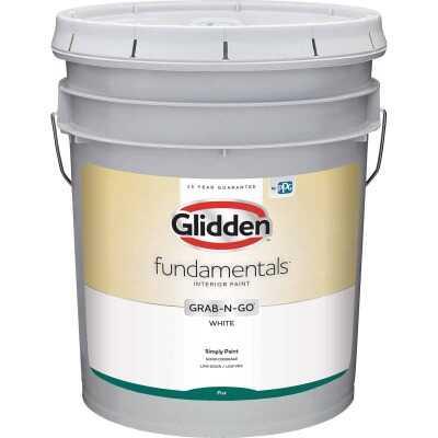 Glidden Fundamentals Grab-N-Go White Flat 5 Gallon