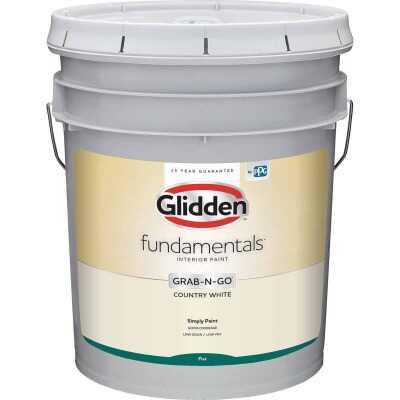 Glidden Fundamentals Grab-N-Go Country White Flat 5 Gallon